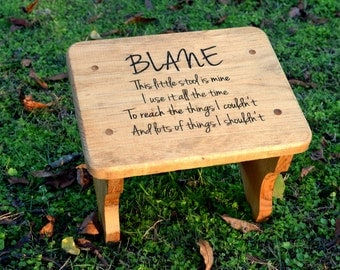 Personalized Kids Stepping Stool - Rustic Decor - Childrenu0027s Step Stool - Bathroom Stool - Wood & Personalized stool | Etsy islam-shia.org