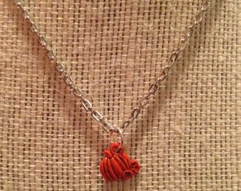 """16"""" Silver Pumpkin Necklace"""