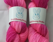 Electric Florida Flamingo - Sock Yarn - Paprika Base