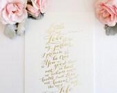 SALE - 15% off Gold Foil Wedding Vow Print