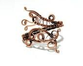 copper cuff bracelet - wire wrapped jewelry handmade - bracelet copper - jewelry wire wrap bracelet - copper jewelry