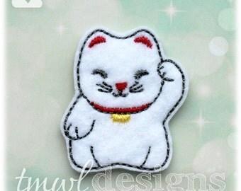 """Maneki Neko Cat Feltie Digital Design File - 1.75"""""""