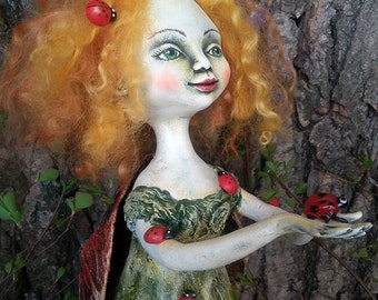 "Ooak Pure Sculpt doll ""The Oueen of lady-birds"""