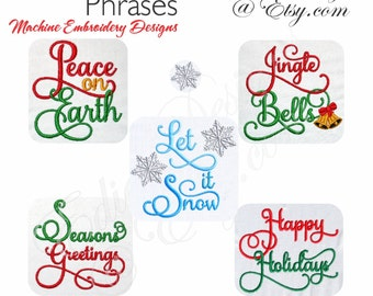 Christmas Machine Embroidery Designs Digital Download Holiday Designs