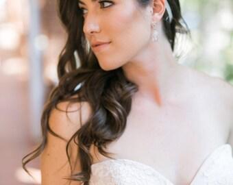 Headpiece for Wedding - Bridal Silver Headband - Wedding Headband - Teardrop - Bridal Hair piece - Wedding Accessory - Wedding Hair piece