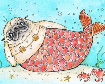 The Friendly Mer-Pug, Print