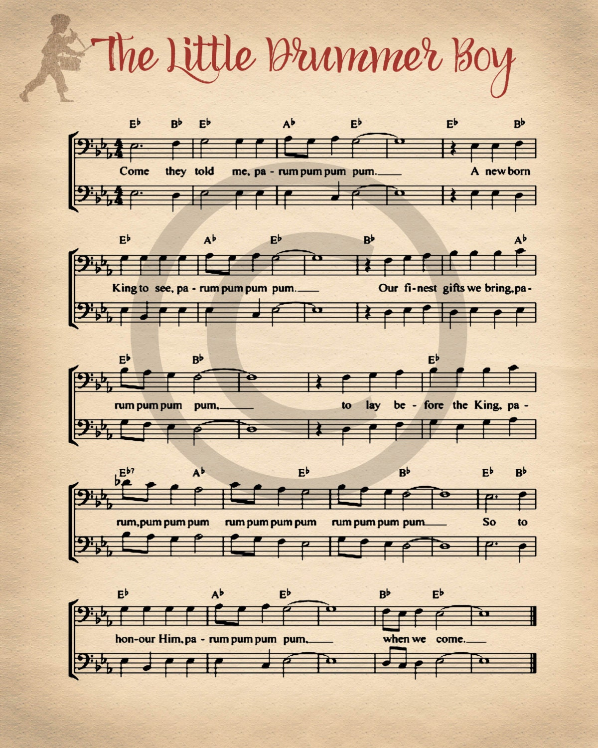 It's just an image of Dynamic Printable Christmas Sheet Music
