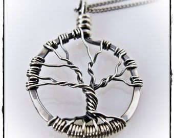 Silver Tree-of-Life Necklace, wire tree, boho jewelry, woodland jewelry, gift for wife