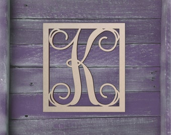 wedding wooden letter large or small unfinished cursive wooden letter perfect for crafts diy weddings sizes 1 to 42