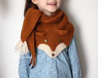 FOX trot Scarf Knitting pattern (one size fits kids and adults)