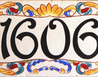 House number plaque, house numbers, closing gift,  house sign, housewarming gift, hand painted sign, house sign, ceramic house numbers.