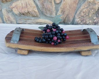 Wine Barrel Stave Serving Platter