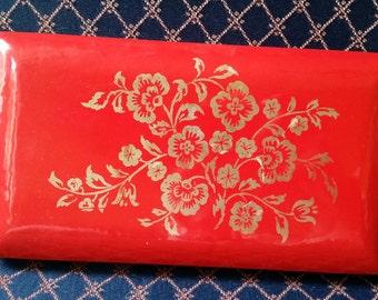 Red Mele Clam Shell Jewelry Box