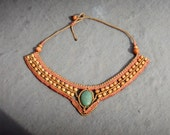 Macrame Statement Necklace, Bohemian Metal Free Jewelry, Gift for Mom, Shipped from the UK