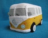 Amigurumi VW Camper Van Bus Volkswagen Inspired Car PDF Crochet PATTERN
