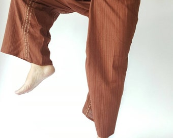 TC8000 Handmade Thai Fisherman Pants Wide Leg pants, Wrap pants, Unisex pants