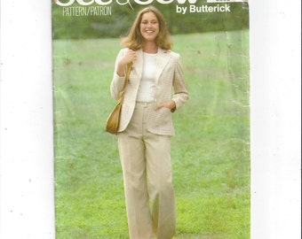 Butterick 5900 See & Sew Vintage Sewing Pattern for Misses' Jacket, Pants, Size 16-18, FACTORY FOLDED, UNCUT, Vintage Pattern, Home Sewing