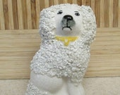 "STAFFORDSHIRE POODLE FIGURINE vintage reproduction 3 1/4"" tall Gs5B-107"