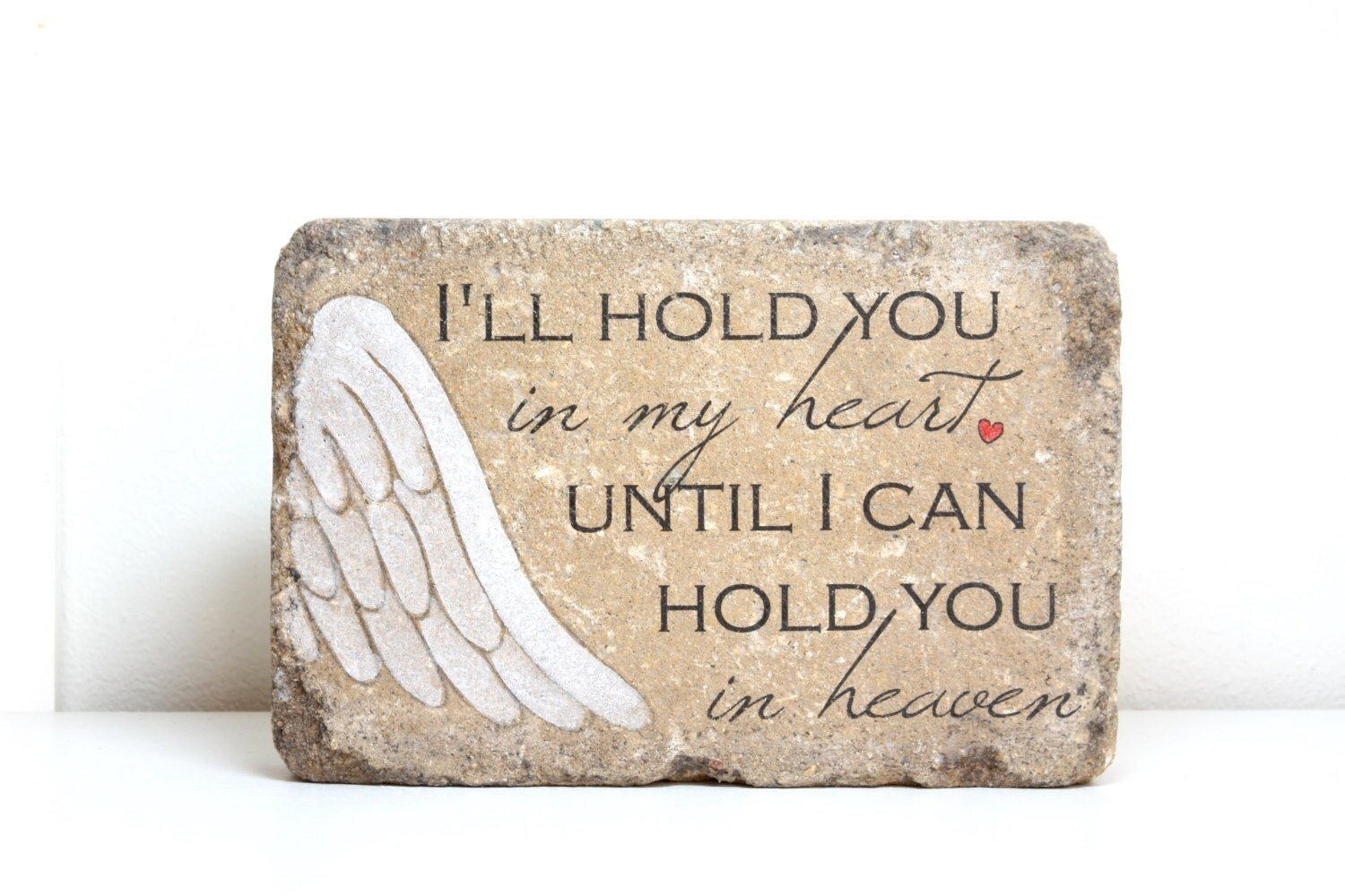 Baby loss ornaments - I Ll Hold You In My Heart Memorial Stone Ready To Ship Sympathy