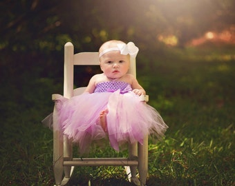 Baby Girl Tutu Dress - Custom Tutu Dress - Infant Tutu Dress, Toddler Tutu Dress, Flower Girl Dress, Birthday Dress Baby Gift