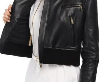 Classic Leather Jacket for Women