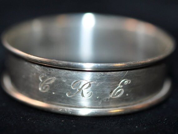 sterling napkin ring silver napkin ring engraved cre