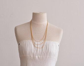 """vintage triple chain necklace 21"""", 24"""", 27"""""""