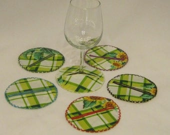 Wine glass cozies, wine glass sleeves, glass markers