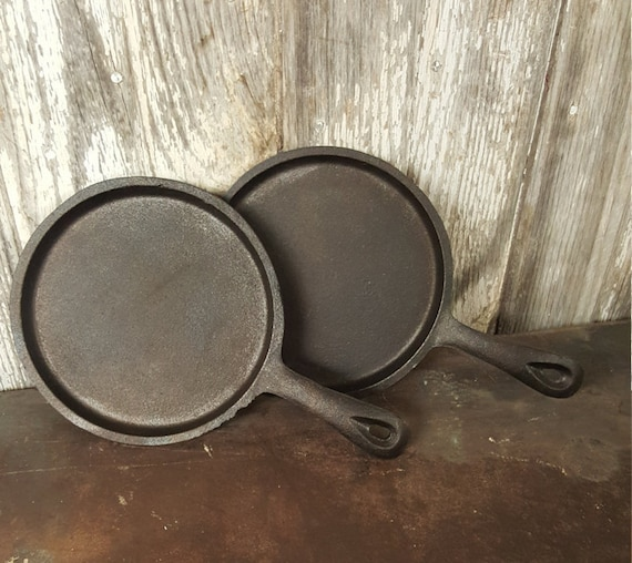 Vintage Cast Iron Tortilla Pan Small Cast Iron Pan Griddle