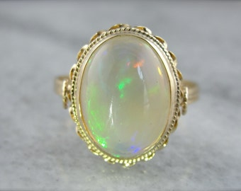 Rainbow Colorfield Opal Cocktail Ring LQLFMV-N