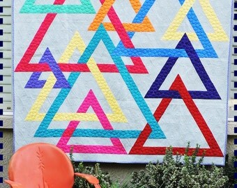Wife of Pi Quilt Interlocking Triangles Quilt Pattern