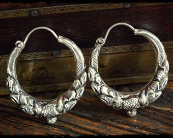 Tibetan Hoop Earrings - MEDIUM