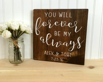 Romantic Quote Sign, Wooden Love Quote Sign, Signs With Quotes, Handpainted Wall Art, Valentines Day Gift