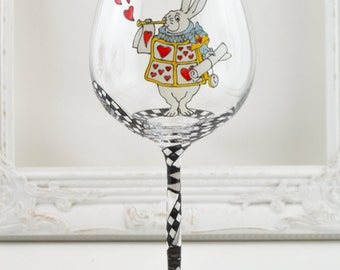 White Rabbit Wine Goblet