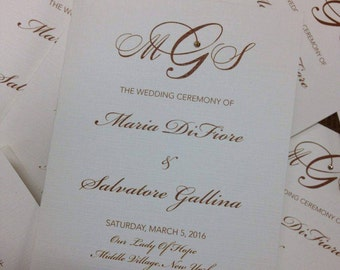 Wedding Program Church Program Wedding Church Program Booklet Wedding Program Wedding Programs Church Programs Bridal Party Program
