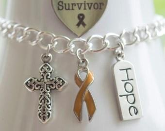 Appendix Cancer Awareness Charm Bracelet