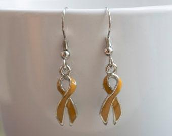 Appendix Cancer Ribbon Awareness Earrings
