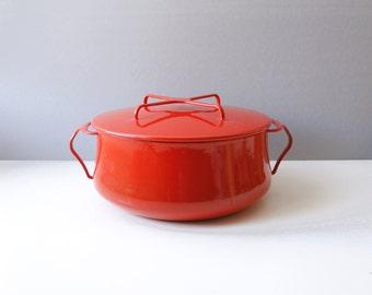 Dansk Kobenstyle Red Enamel Dutch Oven Pot 5 Quart Large Jens Quistgaard Danish Modern