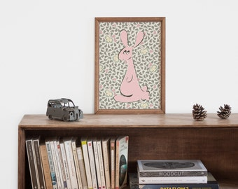 "Illustration ""rabbit"" inspirational art print for the girl nursery"