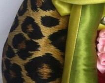 5th Avenue Leopard Velvet Vulva Puppet - Custom Professional