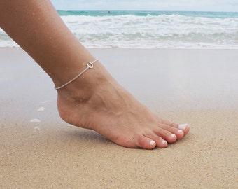 Sterling Silver Horseshoe Anklet, Lucky Horseshoe Anklet