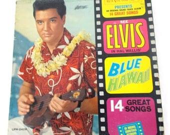 1964 Elvis Blue Hawaii Soundtrack Vinyl LP Record RCA Victor LPM 2426