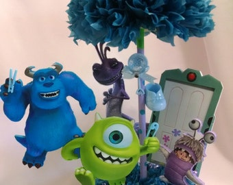 Monsters Inc Table Centerpiece - Baby Shower Centerpiece - Baby Boy Shower Decoration - Monsters Inc Party Supplies  - Party Decoration