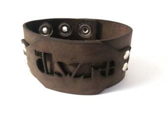 The Doors-Leather Wristband Cuff Bracelet - Genuine First Class Leather -men leather bracelet - woman leather bracelet