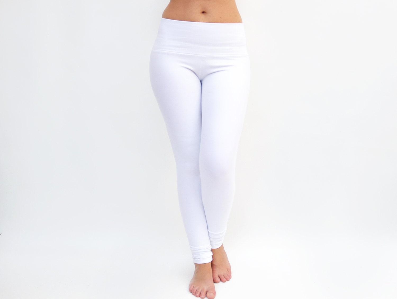 White Leggings White Yoga Pants Workout Tights Yoga
