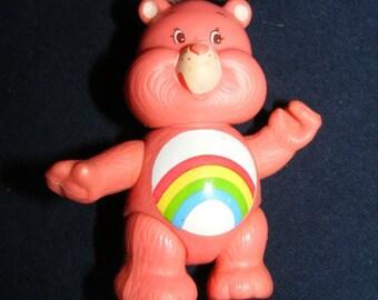 Care Bears Figure, Cheer Bear, PVC Figure, Vintage PVC Figure