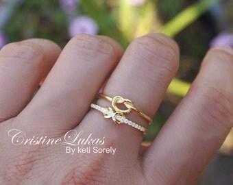 Promise Ring Set Etsy