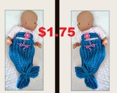 CROCHET Mermaid Tail Pattern, Newborn to 12 months, tail and top, flower, headband, Easy pattern, beginner friendly, video tutorial, #1030,
