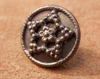 Vintage Metal Star Button