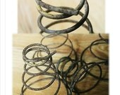Rusty Bed Springs, Vintage Springs, Rusty Springs, Coils, Mattress Springs, Craft Supplies, Mid Century, Cottage, Rustic, Primitive, Decor